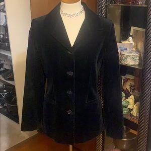 Gap Black Velvet Blazer size 6